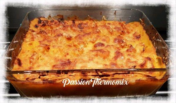 Gratin de butternut aux pâtes