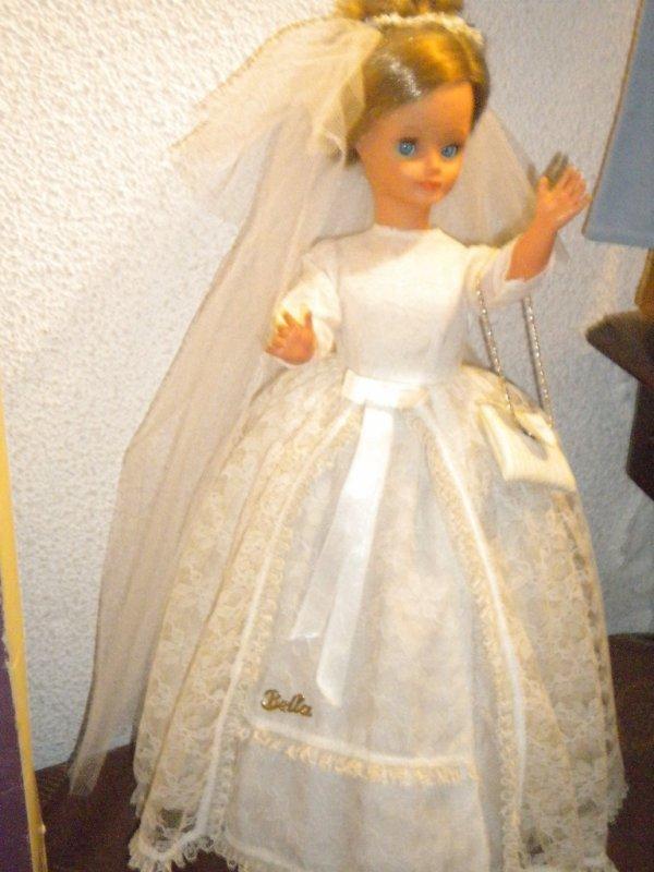 "SUPERIERE ROBE DE MARIEE POUR CATHIE 1967NOMMEE ""MARIEE"""