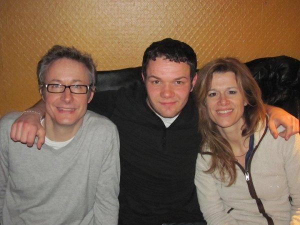 Alexandre Pesle, moi et Corinne Puget.