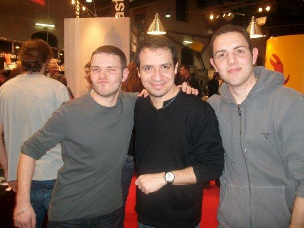 Avec Alexandre Astier(Arthur dans Kaamelott)