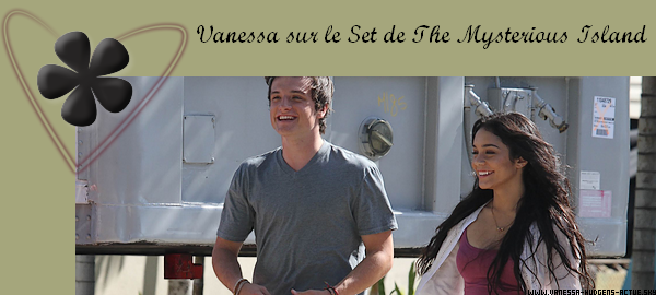 21/10/10 : Vanessa Hudgens et son Co-Star sur le Set de The Mysterious Island