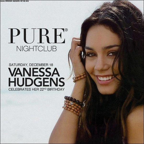 Vanessa célébrera ses 22 ans à l'Hôtel Palace et aussi a Caesers Casino à Las Vegas.