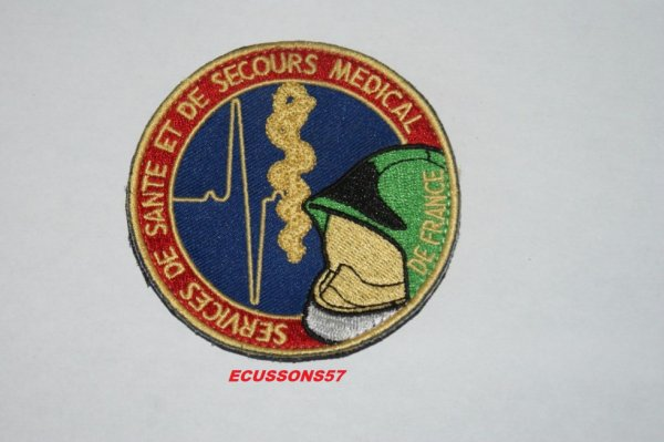 ÉCUSSON DE SERVICE DE SANTE ET DE SECOURS MEDICAL