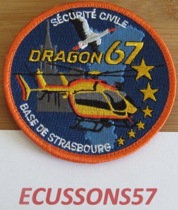 ÉCUSSON SÉCURITÉ CIVIL BASE DE STRASBOURG ( BAS-RHIN 67 )