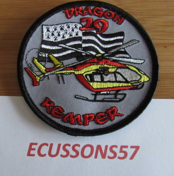 ÉCUSSON DE LA SÉCURITÉ CIVILE DU DRAGON 29