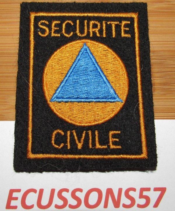 ECUSSON D'UNIFORME DES TROUPES TERRESTRES DE LA CECURITE CIVILE