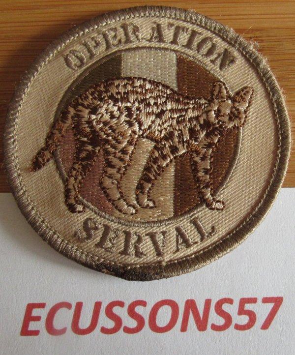 ÉCUSSON OPÉRATION  SERVAL (BV)