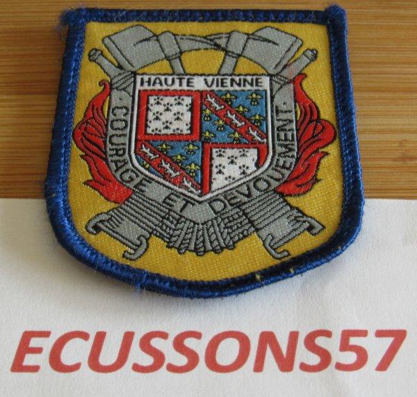 ANCIEN ÉCUSSON SAPEUR POMPIER DE LA  HAUTE VIENNE SDIS (87)