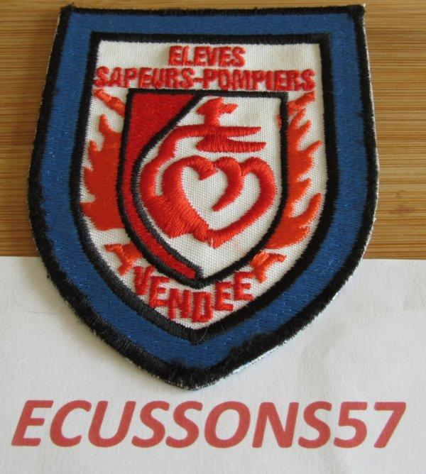 ÉCUSSON ÉLÈVES DES SAPEURS POMPIERS DE LA VENDEE (85)