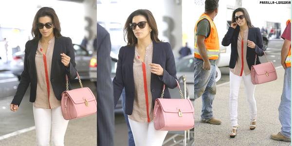 Le 20 mai 2013 - Eva a été apercue à l'aeroport de Los Angeles, hé oui elle rentre chez elle :'( . Sinon je la trouve simple j'aime bien ses talons et son haut. Et toi ?
