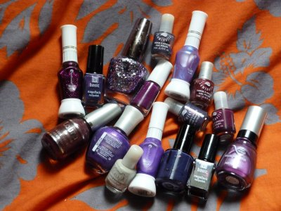 16 vernis mauves, violets...