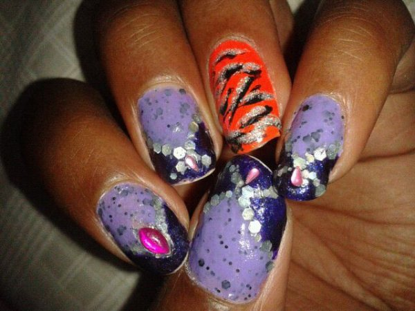 Tit nail art impro