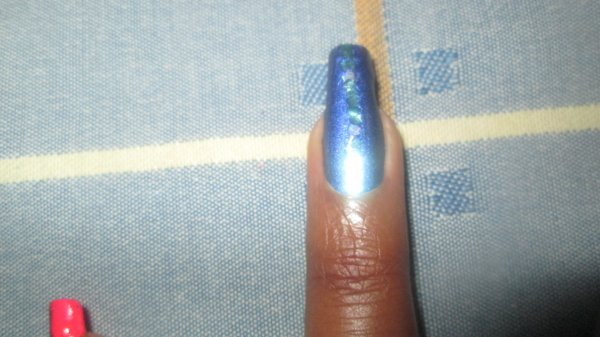 journée bleue, nail art bleu...