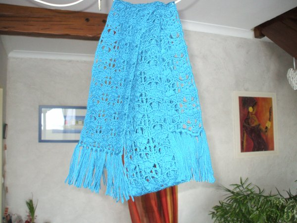echarpe bleu