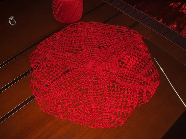 crochet en cours de creation