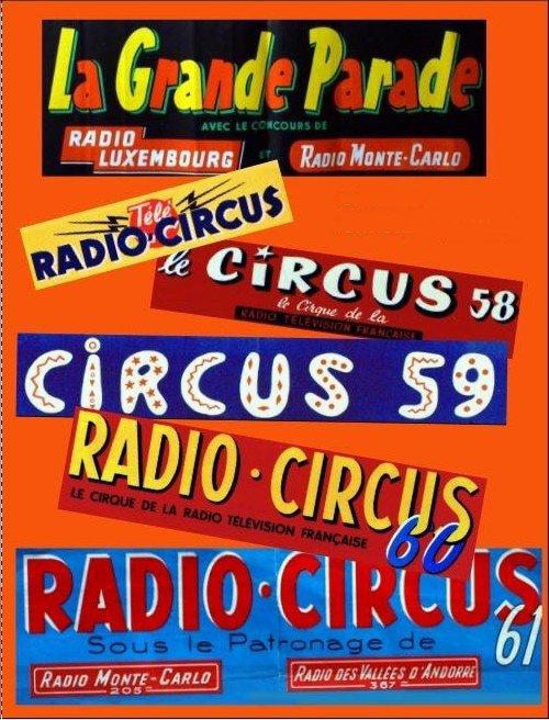 """Les """"Circus"""" de Jean Coupan entre 1956 et 1961"""