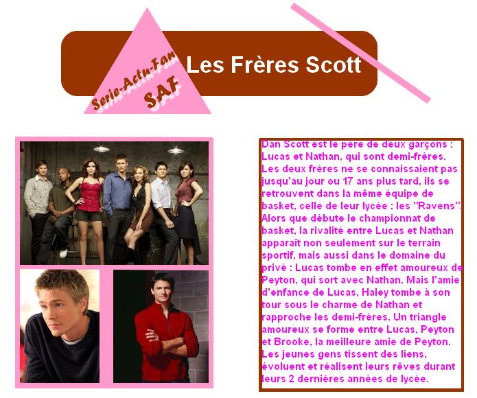 Les Frères Scott ( One Tree Hills )