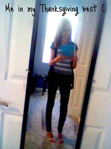 Me in my thanksgiving best ! (: