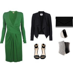 Tenue de soirée n°6 : A partir d'une robe verte