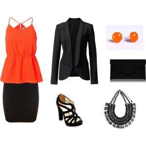 Tenue de soirée n°7 : A partir de la couleur orange
