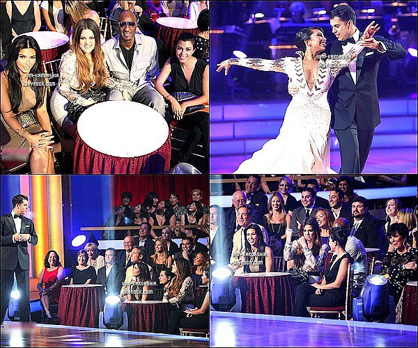 .  19 Septmembre : Kim était présente aux ''Dancing with the Stars'' soutenant Rob Kardashian. .