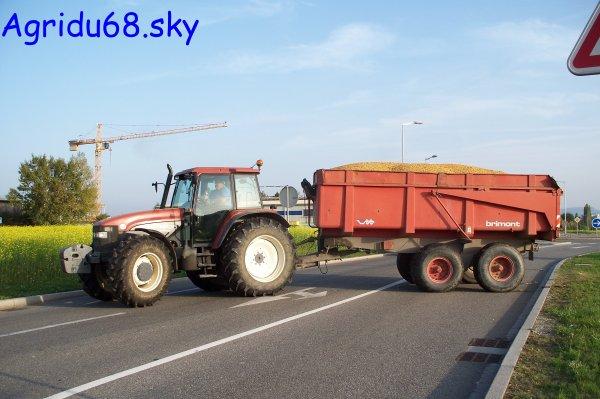 NH M135 + Benne BRIMONT BB12B de 12T (08.10.10)