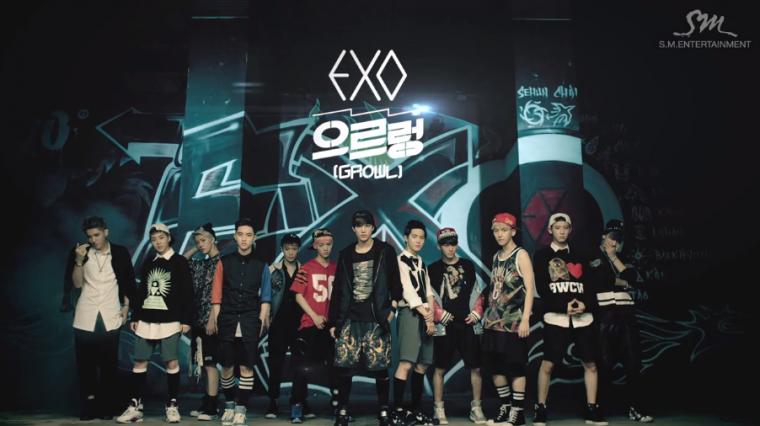 """Les EXO mettent en ligne les vidéos d'entrainements de """"Growl"""""""