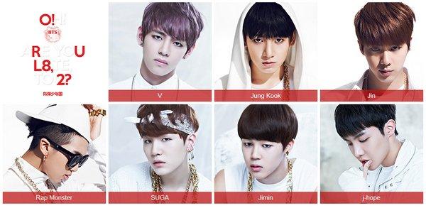 """BTS (Bangtan Boys) met en ligne un trailer de """"O!RUL8,2?"""""""