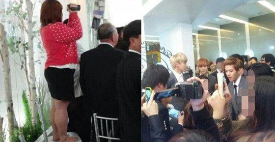 Des fans sasaengs étaient présents au mariage du frère de Baek Hyun (EXO)