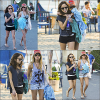 * 28 Janvier 2012 l Ashley,et son amie,Kim Hildago quittant la plage de Malibu. *