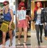 (+) : Rihanna &. ses tenue des plus disjoctées (année 2010 !) .... Une préférence ?!