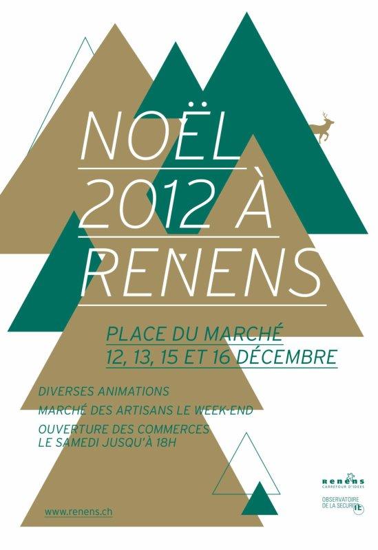 Noël 2012 à Renens.