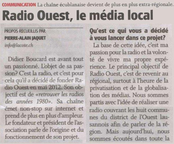 Article de presse.