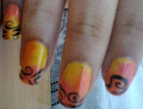 Nail Art Halloweenesque