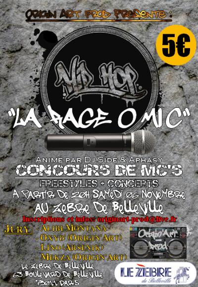 CONCOURS  DE MC'S