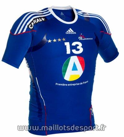 voici le nouveau t-shirt de équipe de france de handball