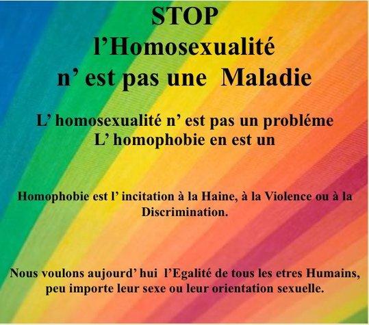 """""""L'homosexualité n'est pas contre nature, c'est la nature qui est contre nous."""""""