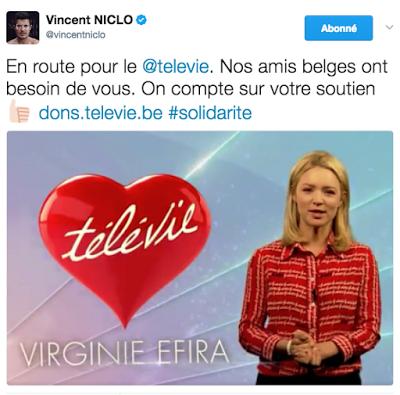 Vincent Niclo pour la grande soirée du Télévie
