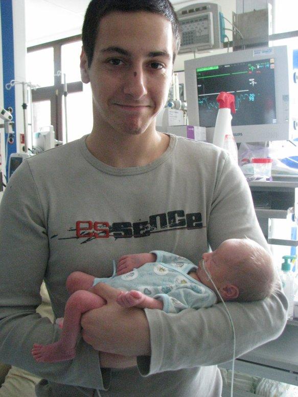 Notre fils et sont papa
