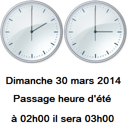 ..N'oubliez pas on change d'heure + 1h..