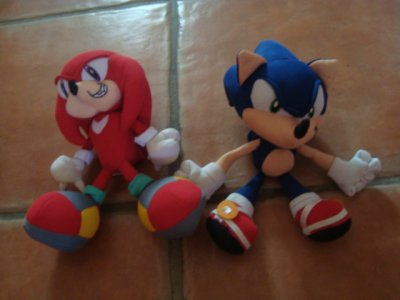 Peluches SONIC ADVENTURE:Sonic&Knuckles