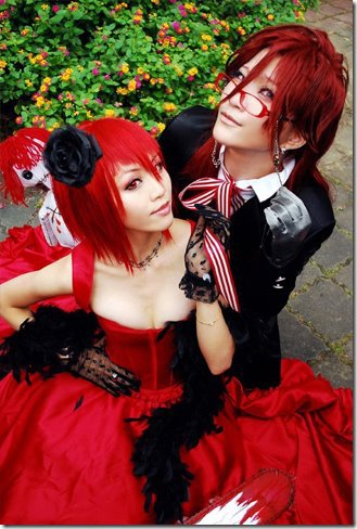Madame Red et Grell, de Black Buttler