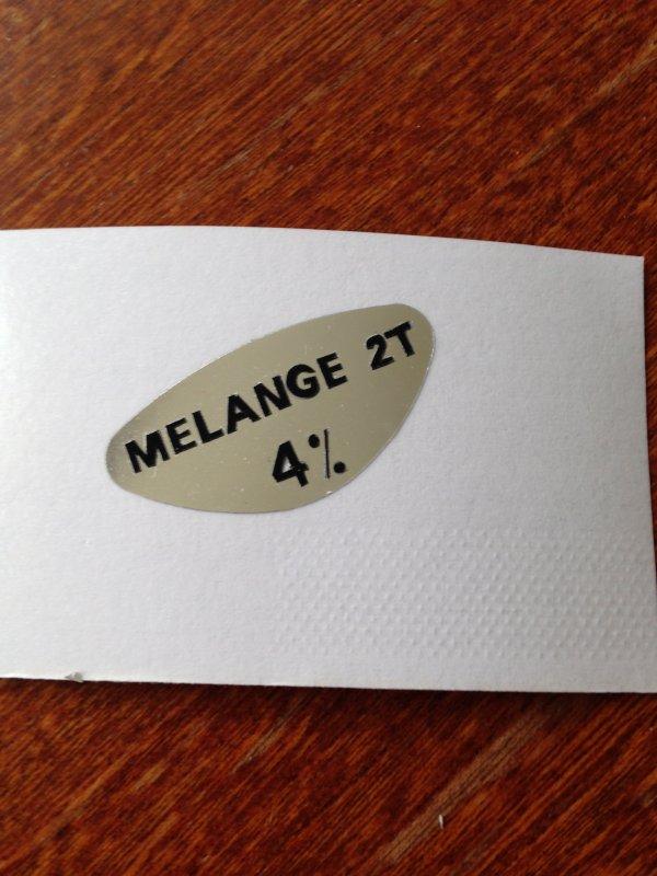 Reproduction  autocollant melange 2T 4%
