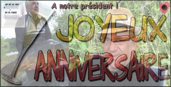 Aujourd'hui joyeux anniversaire à l'un des pères fondateurs JOJO et à notre nouveau président PETIT BAIGNEUR ! <3