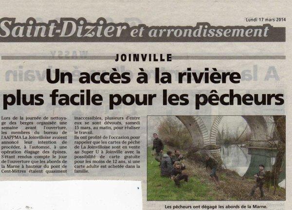 15.3.14 Nettoyage berge Marne par l'aappma La joinvilloise !