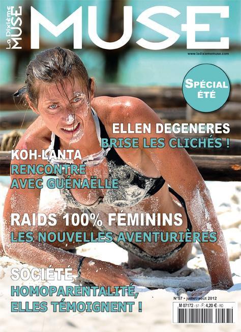 """Guénaëlle de Koh-Lanta en Une du magazine lesbien """"La dixième Muse"""""""