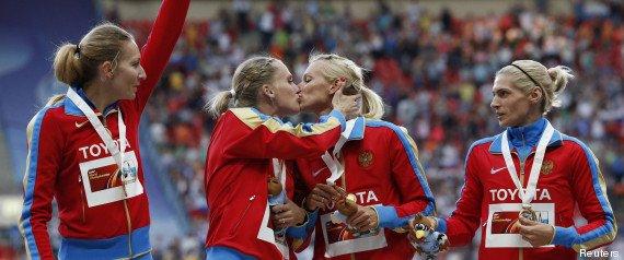 Tatyana Firova & Kseniya Ryzhova - Mondiaux d'athlétisme de Moscou