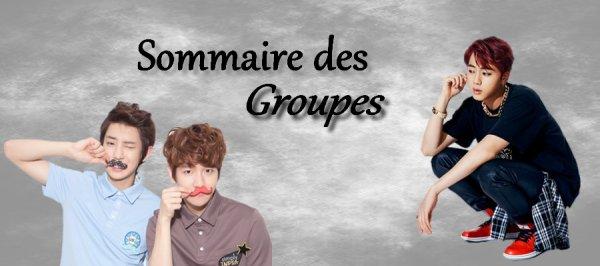 Sommaire des Groupes