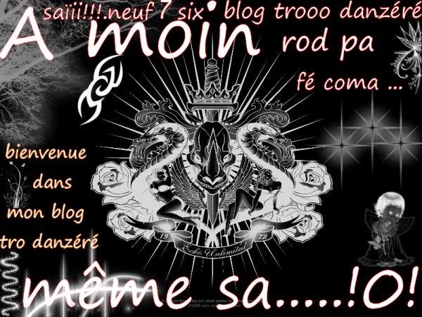 bienvenue dans mon blog danzéré