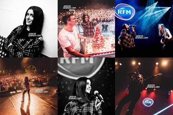 15/11/2018 : Jenifer était présente et à performé au concert « RFM » elle était trop belle, j'adore sa tenue. Top!